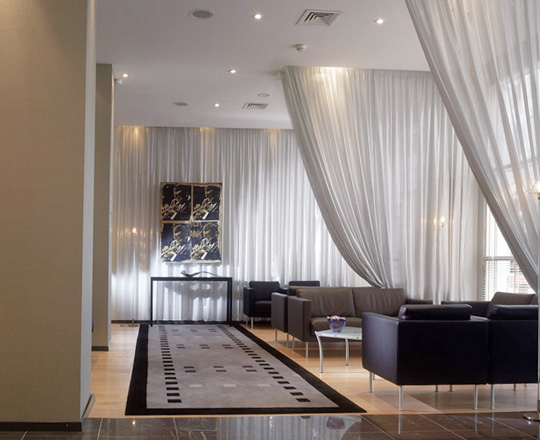 Curtain Room Divider and Draper Room Partitions