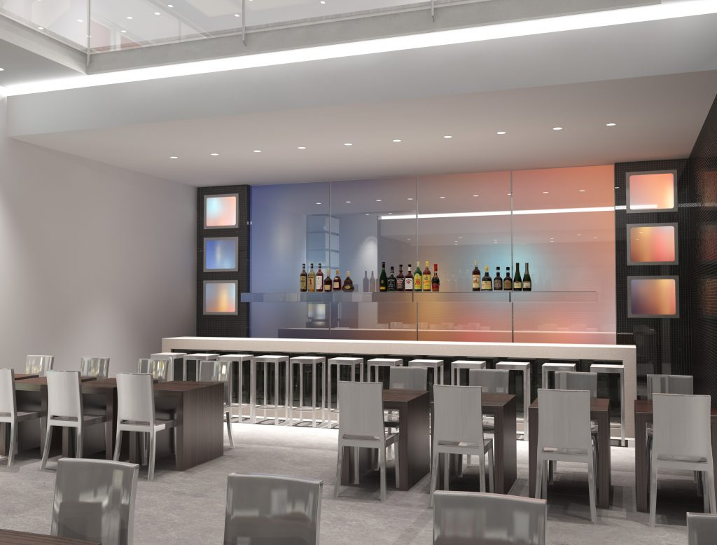 Contemporary Bar Concept Rendering